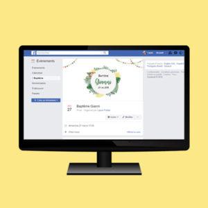 couverture facebook personnalisée jungle cadeau invité baptème gianni anniversaire