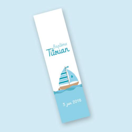 papeterie kit festif affiche bateau baptème anniversaire imprimable invitation marque-place étiquettes dragées Titouan marque-page cadeau invité idée