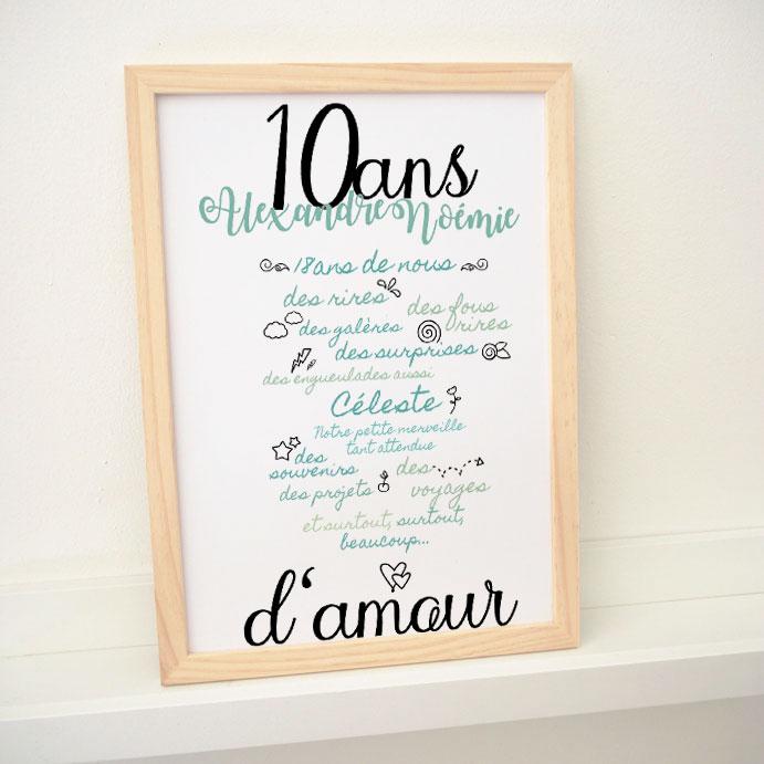 Affiche Anniversaire De Mariage