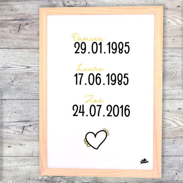 affiche famille dates