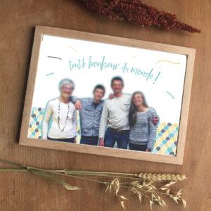 famille montage photo création graphique personnalisation détourage sur mesure déco cadeau anniversaire original