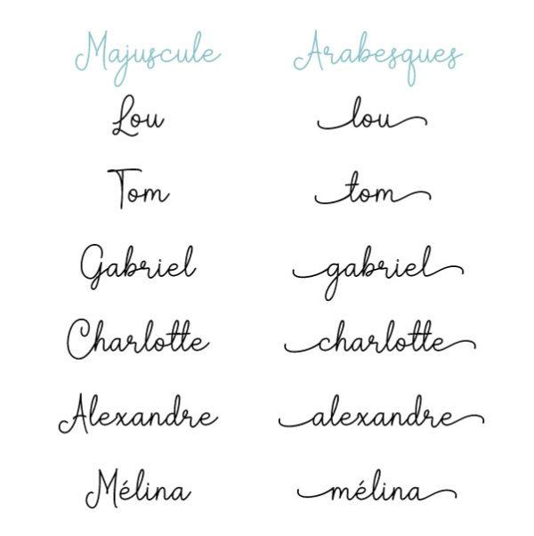 prénom majuscule ou arabesques