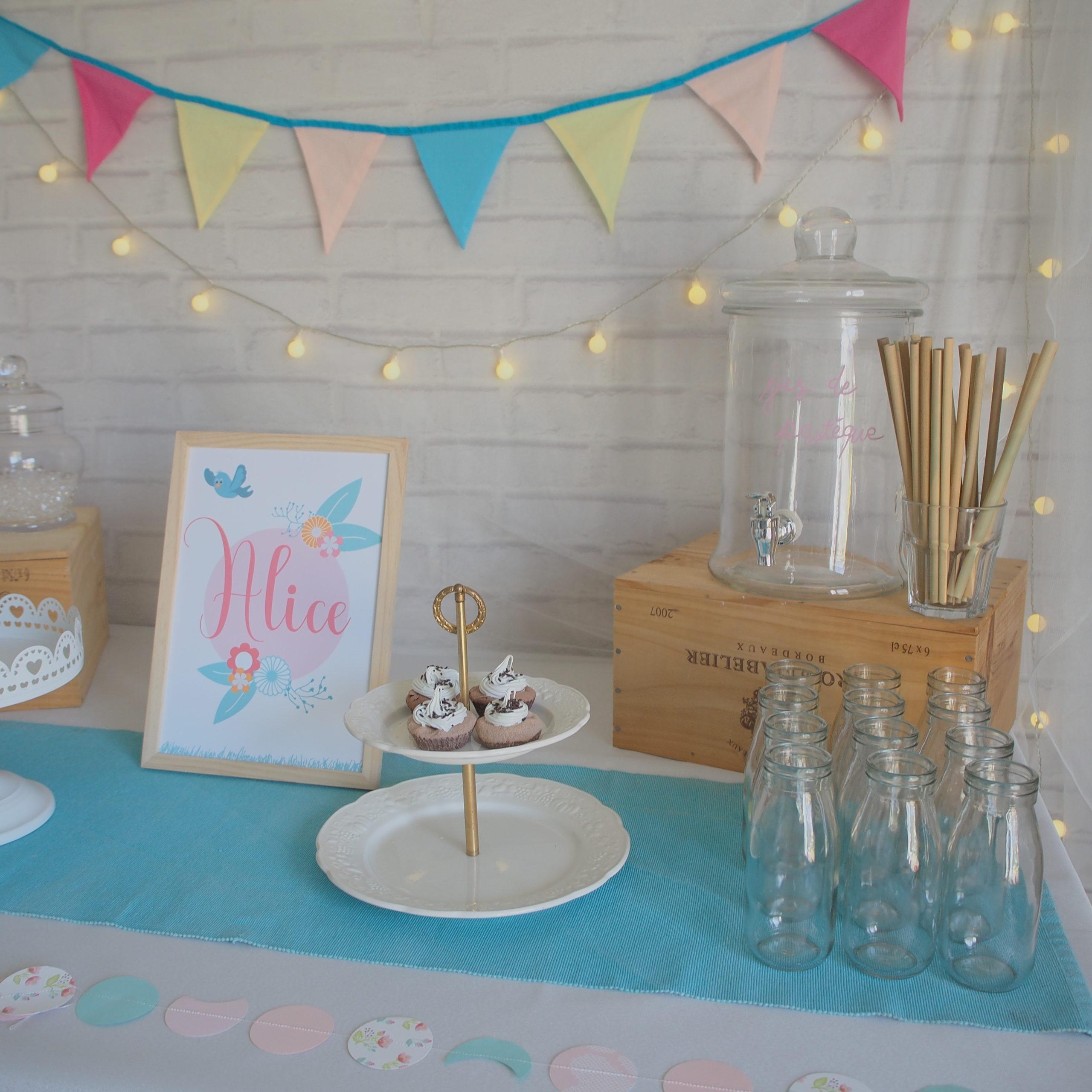 sweet table colorée