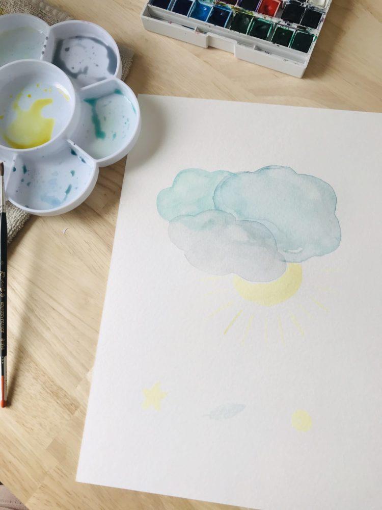 peinture aquarelle watercolor cloud creativité sur-mesure personnalisation personnalisée