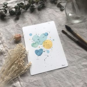 Aquarelle carte postale Summer Bubbles