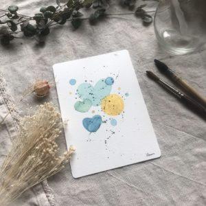 Aquarelle carte postale Summer Bubbles
