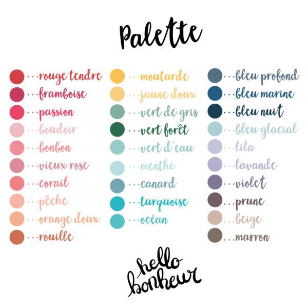 palette couleurs hello bonheur