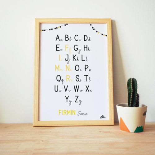 abecedaire affiche alphabet personnalisé