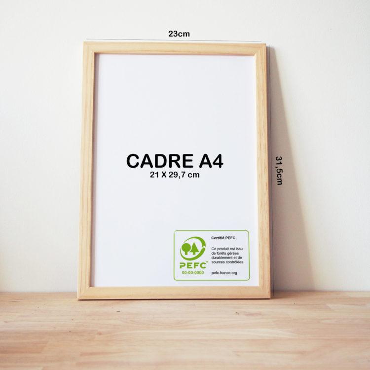 cadre A4 bois