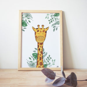 Affiche Girafe simple