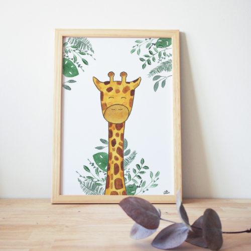 Affiche Girafe simple