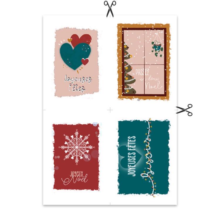 cartes de noel à imprimer