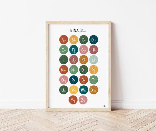 Affiche alphabet capitales et cursives