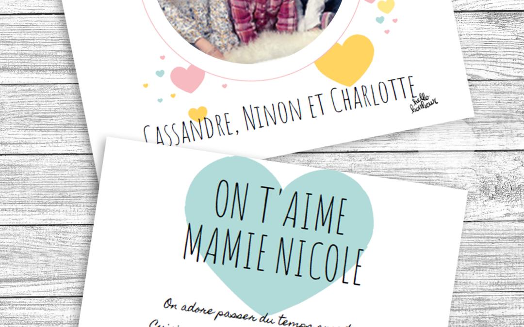 Carte Fête des Grands-mères à imprimer (gratuite)